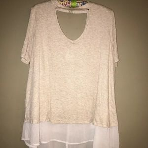 Kimchi Blue UO Highneck Cut Out Blouse S